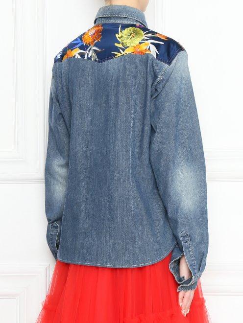 Рубашка из денима с аппликацией - МодельВерхНиз1