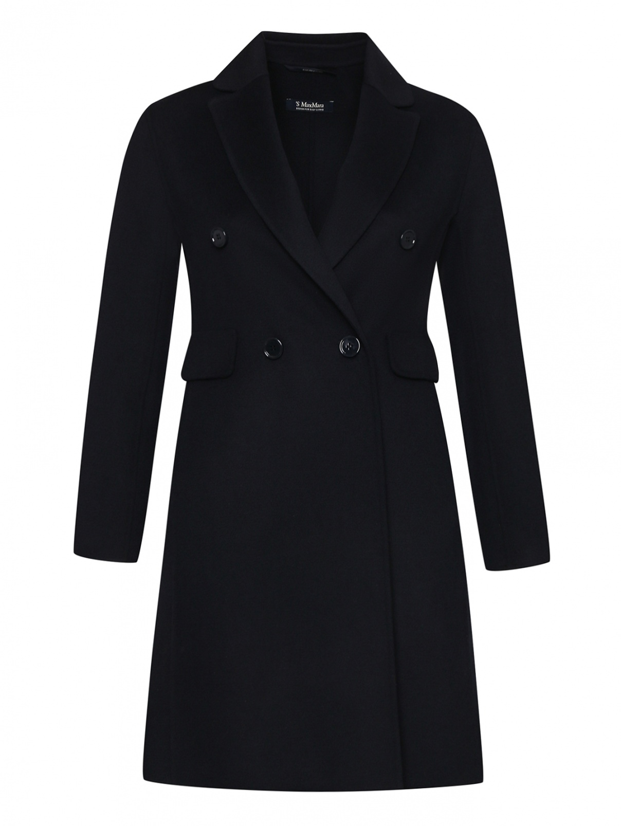 Пальто из шерсти на пуговицах Max Mara  –  Общий вид