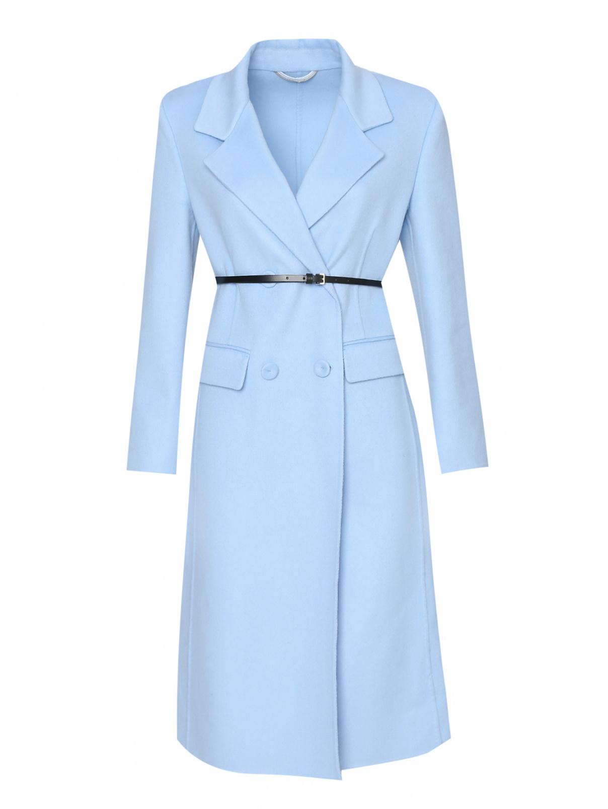 Пальто из шерсти с поясом Ermanno Scervino  –  Общий вид