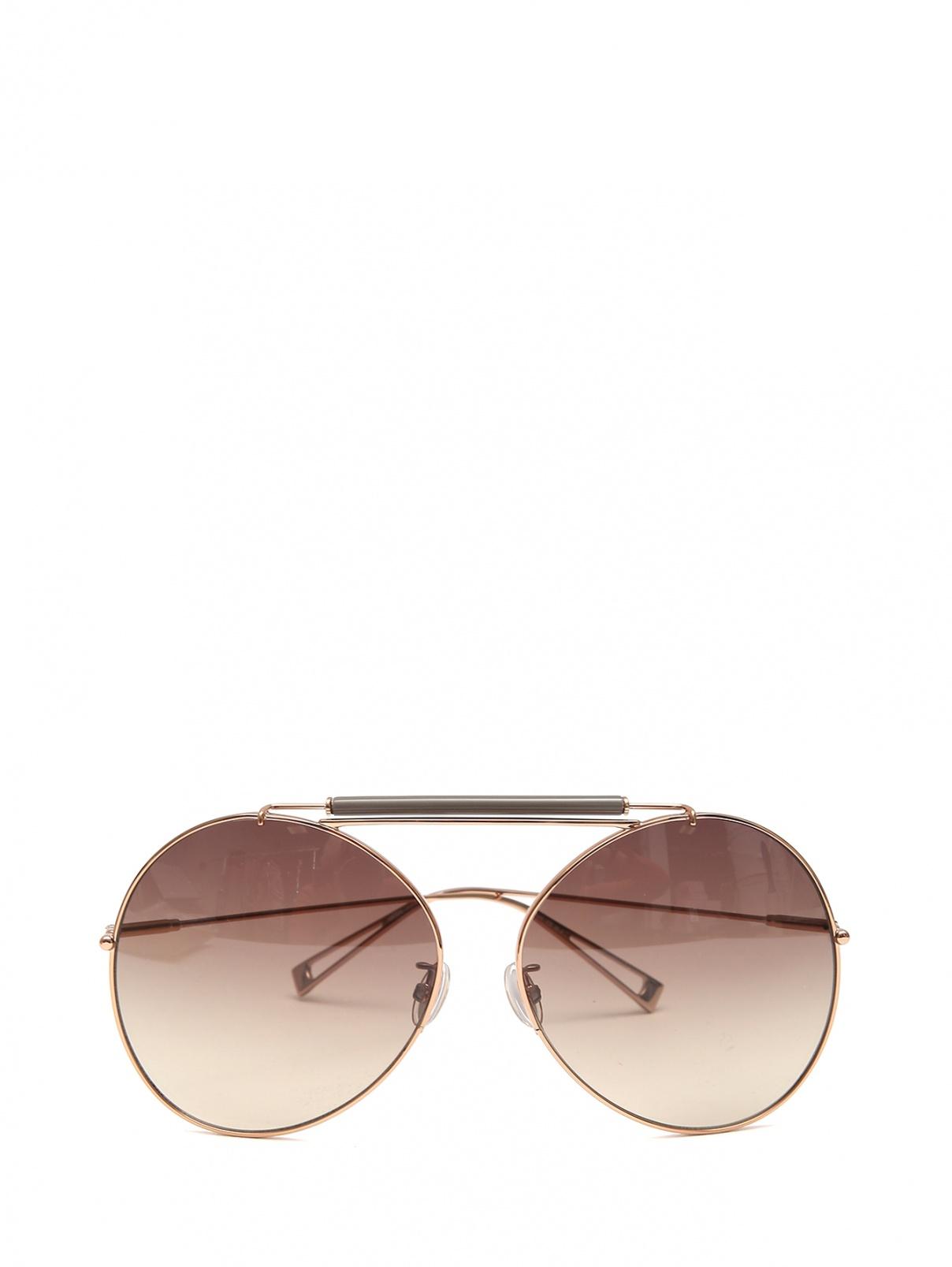 Солнцезащитные очки в оправе из металла Max Mara  –  Общий вид