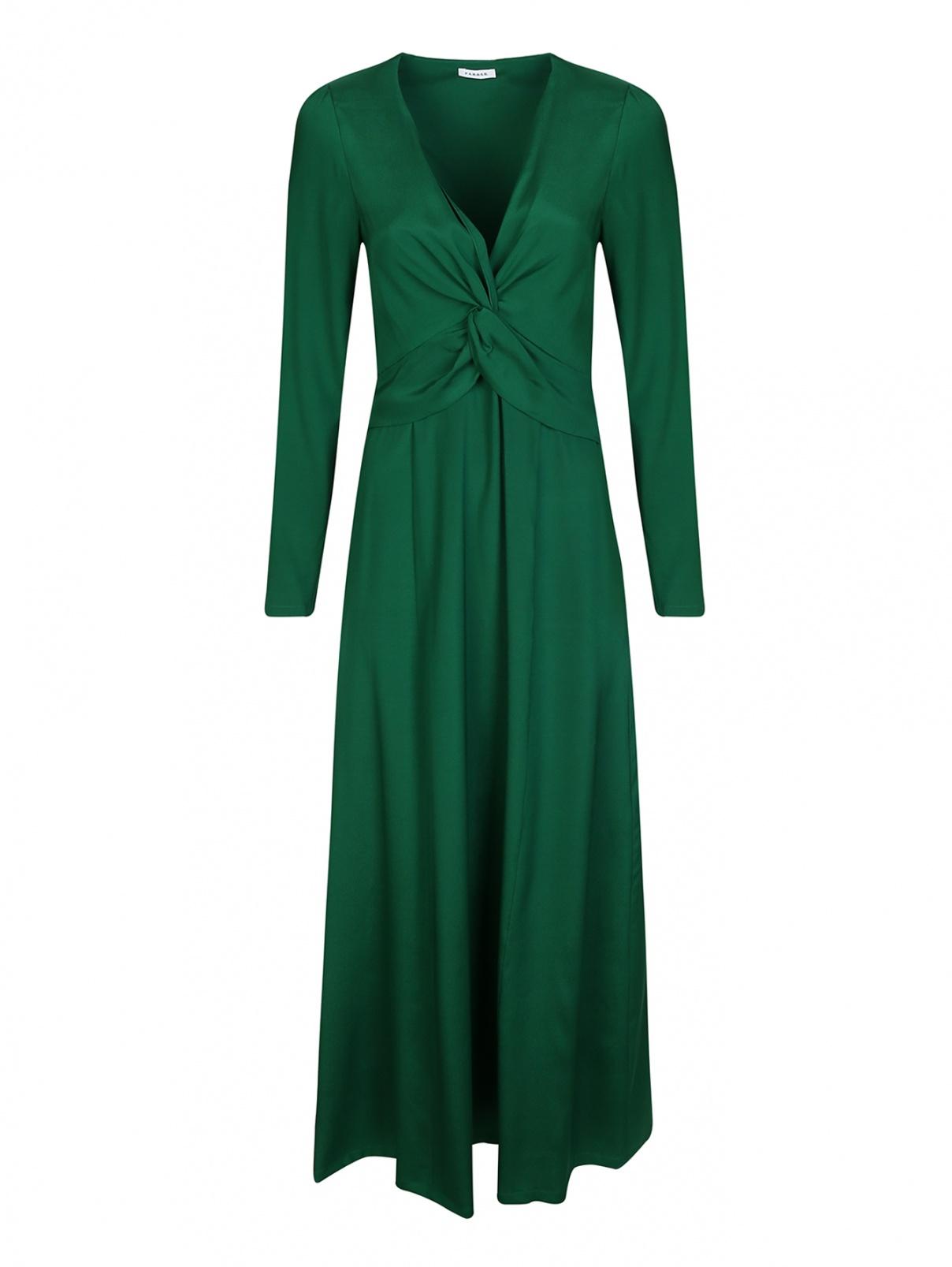 Платье шелковое с драпировкой на груди P.A.R.O.S.H.  –  Общий вид