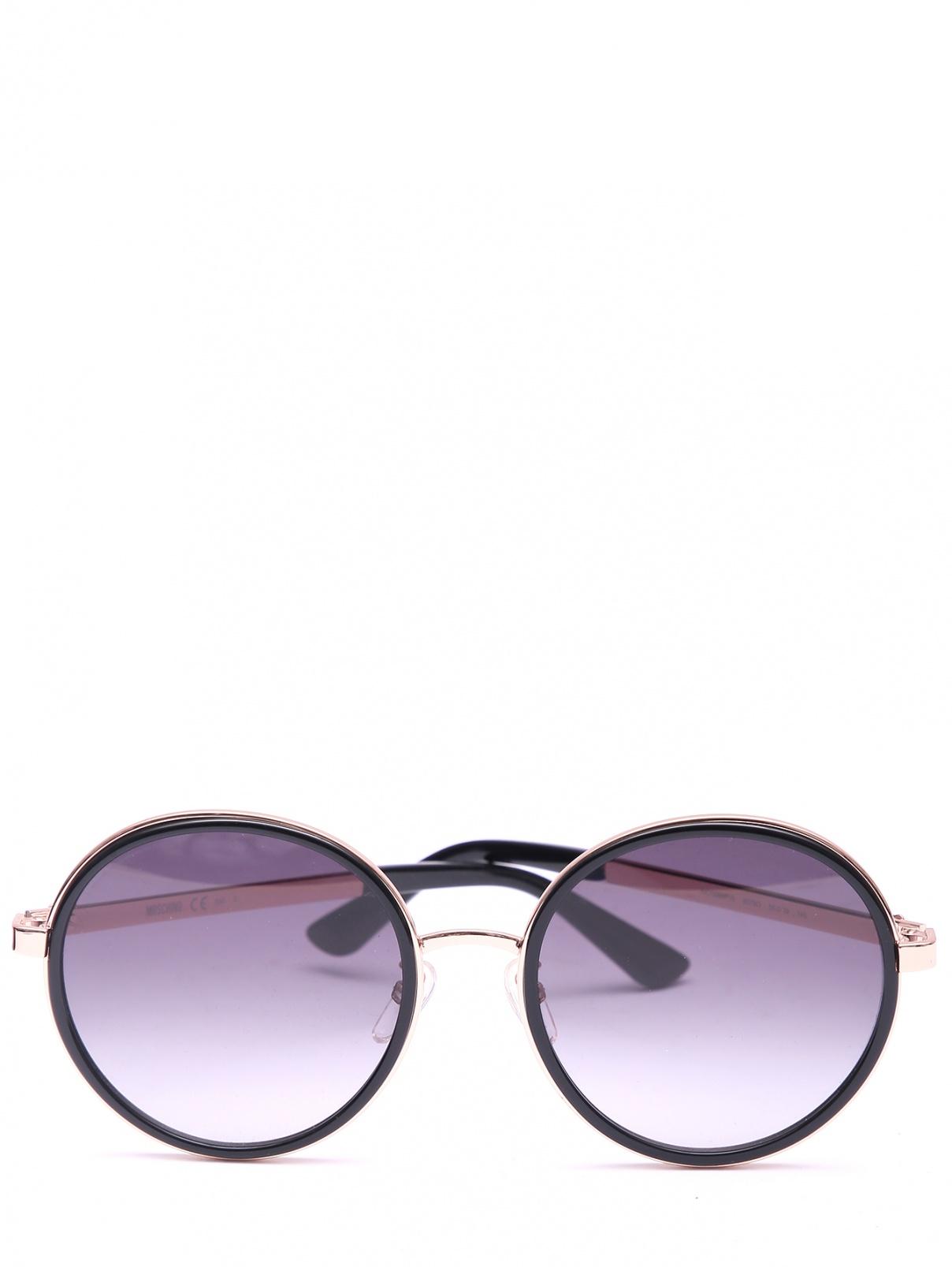 Солнцезащитные очки в круглой оправе Moschino  –  Общий вид