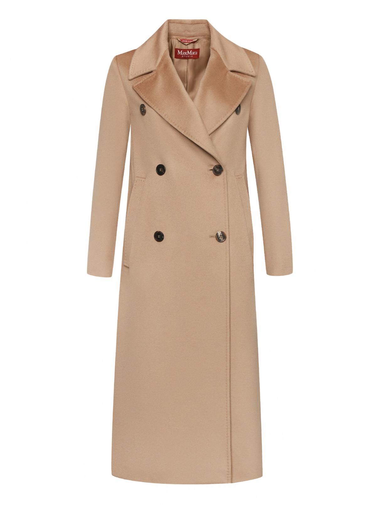 Пальто прямого кроя из шерсти Max Mara  –  Общий вид