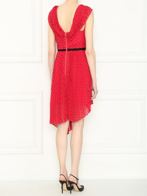 Платье асимметричного кроя с узором - МодельВерхНиз1