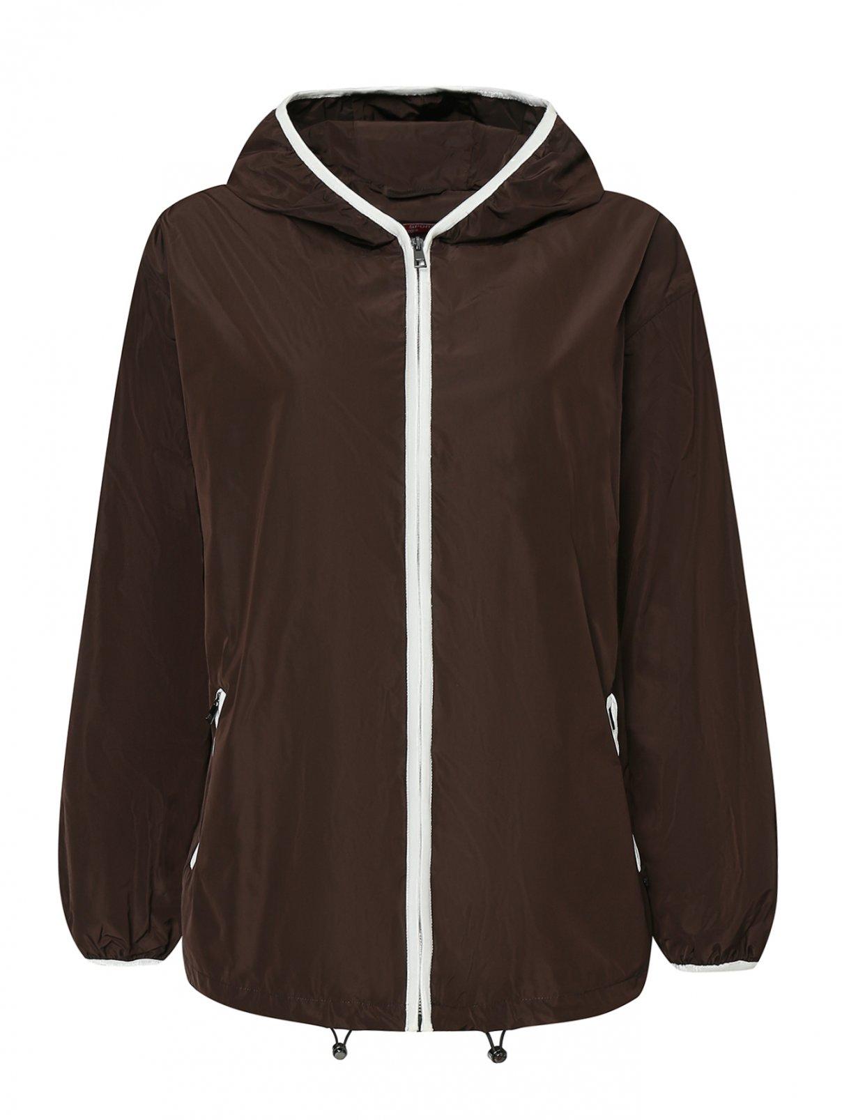 Куртка на молнии с капюшоном Marina Rinaldi  –  Общий вид