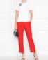 Укороченные брюки с боковыми карманами из льна Ermanno Scervino  –  МодельОбщийВид