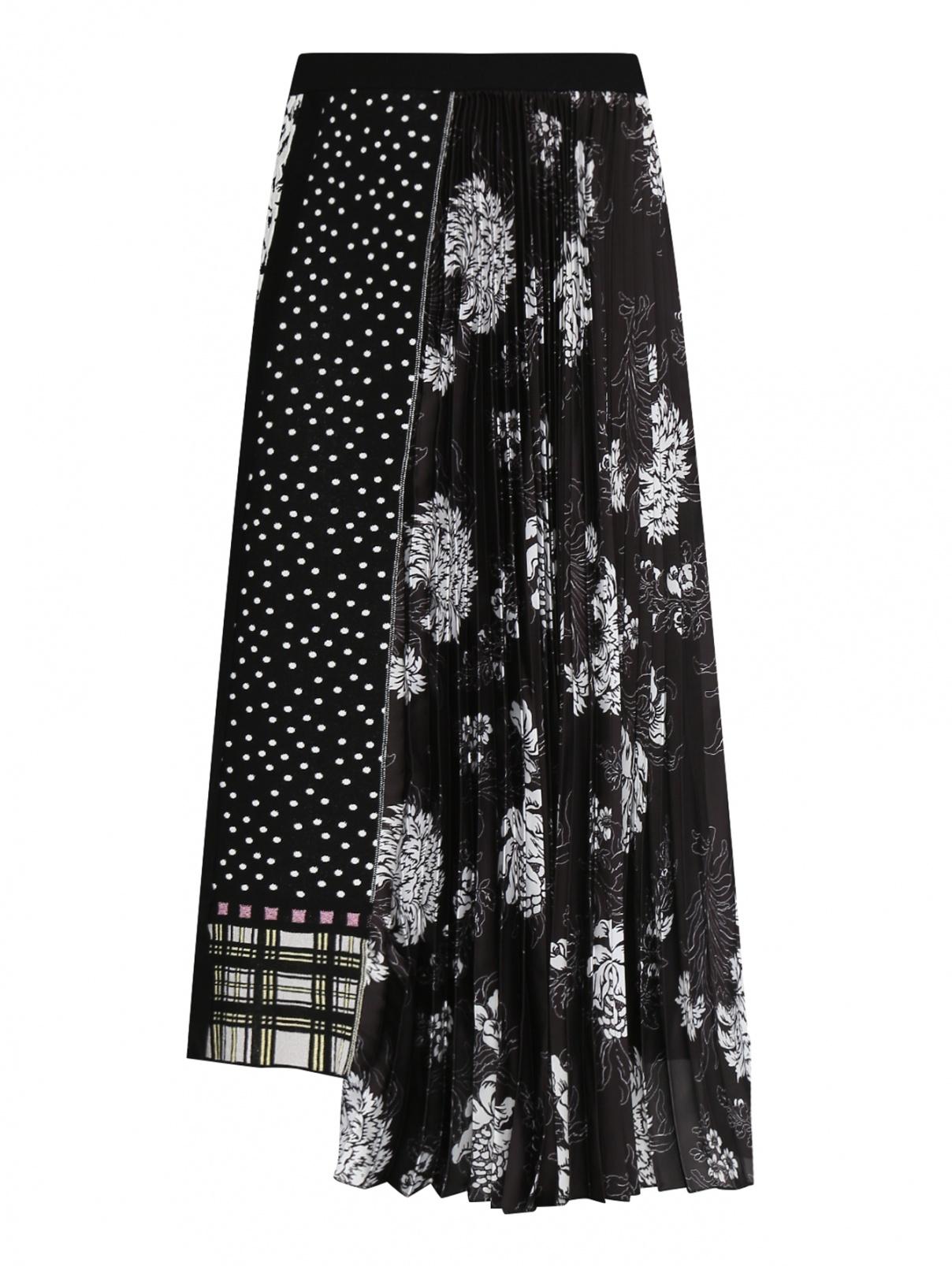 Трикотажная юбка асимметричного кроя с узором Antonio Marras  –  Общий вид