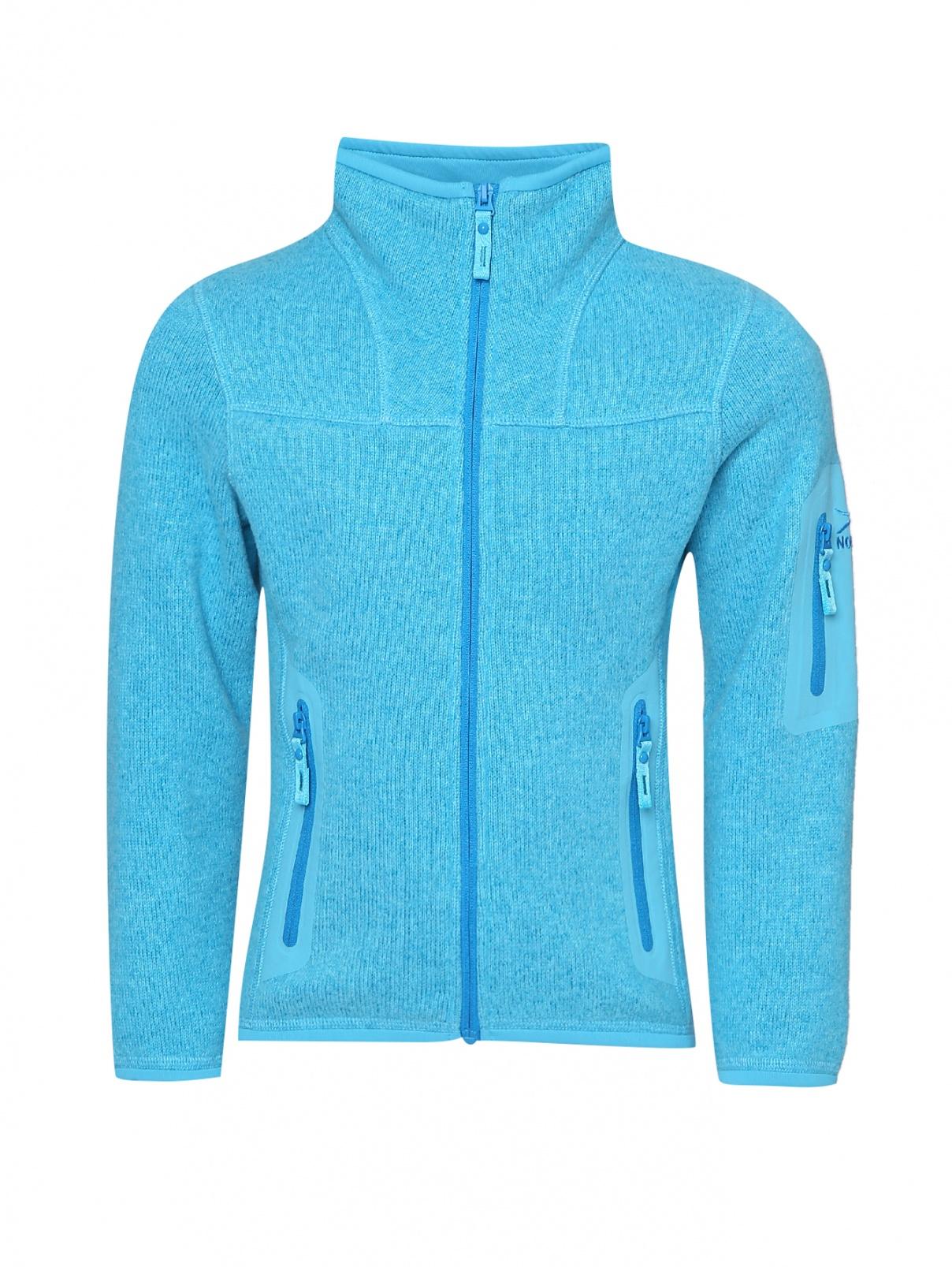 Куртка из двухслойного флиса, на молнии Norveg  –  Общий вид