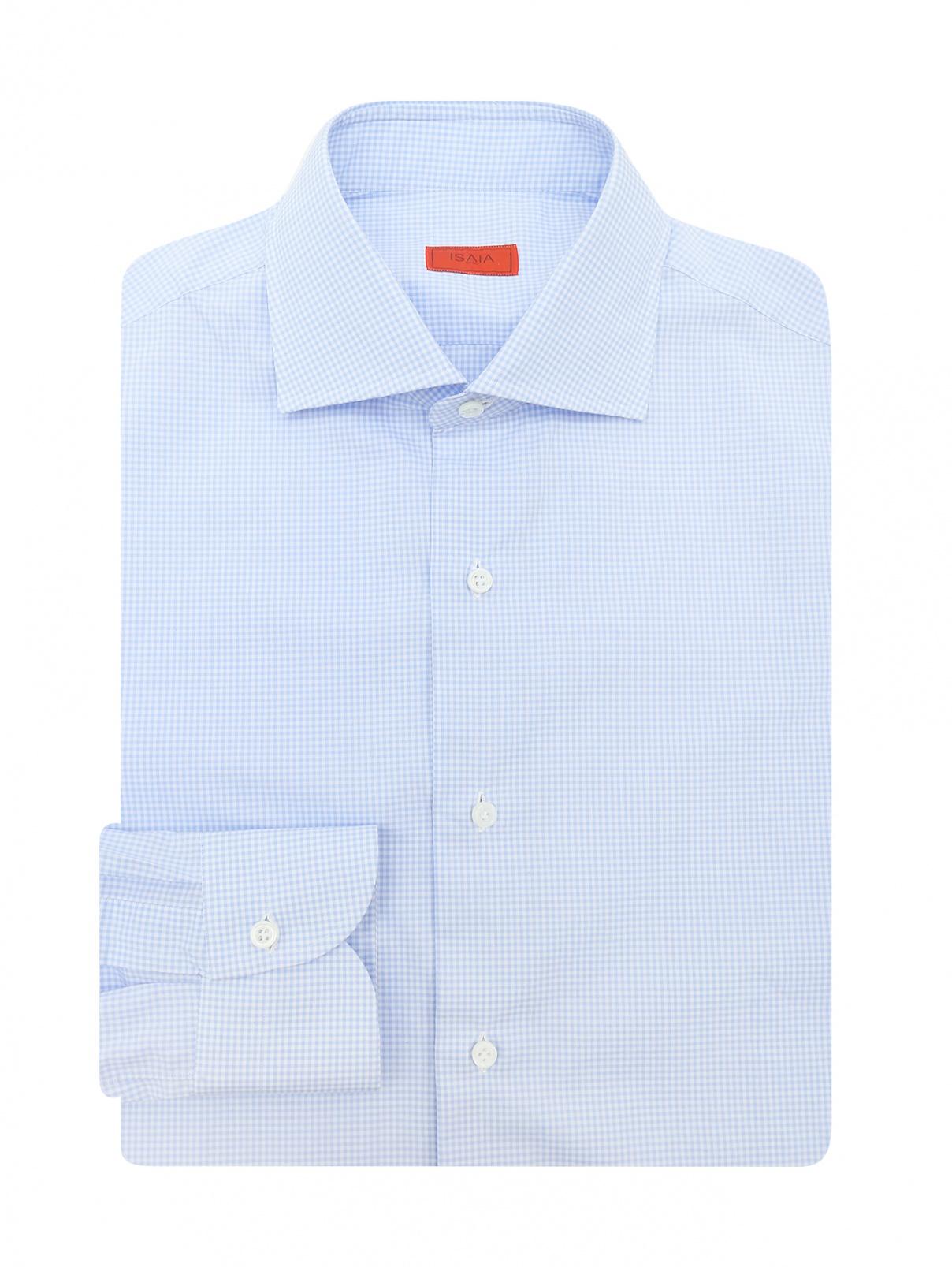 """Рубашка из хлопка с узором """"клетка"""" Isaia  –  Общий вид"""