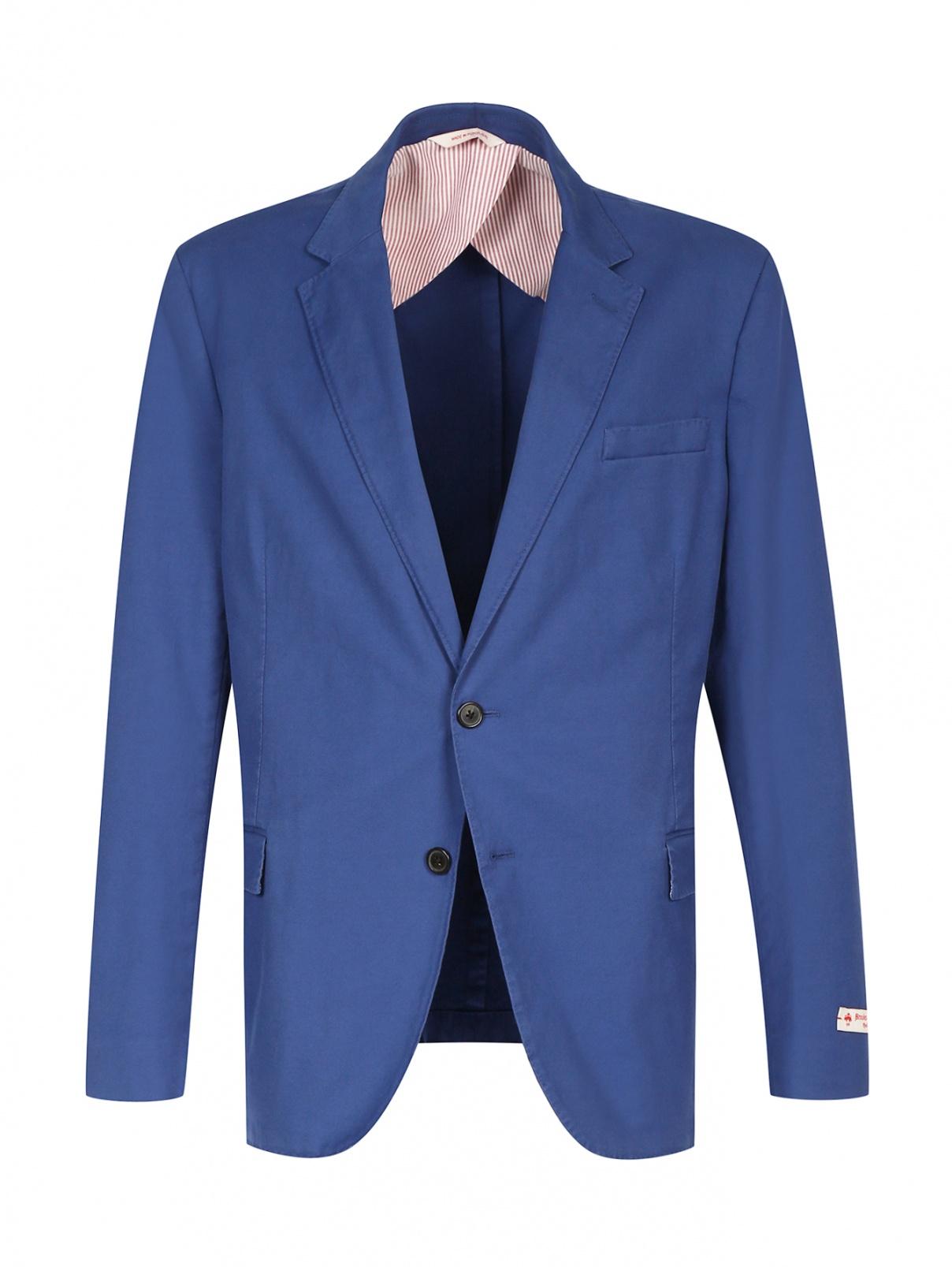 Пиджак однобортный из хлопка Brooks Brothers  –  Общий вид