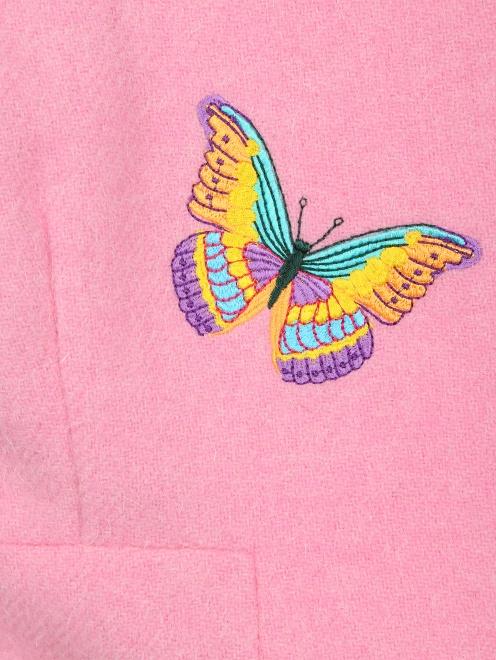 Полупальто из шерсти с  вышивкой - Деталь