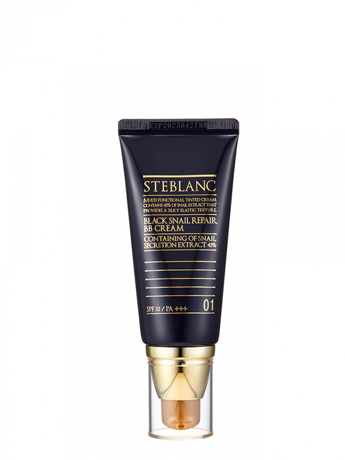 Black Snail Repair BB Cream / ВВ крем с муцином Чёрной улитки тон 01 (светлый беж) 50 мл STEBLANK  –  Общий вид