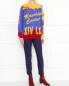 Укороченные брюки из смешанной шерсти Moschino Boutique  –  МодельОбщийВид