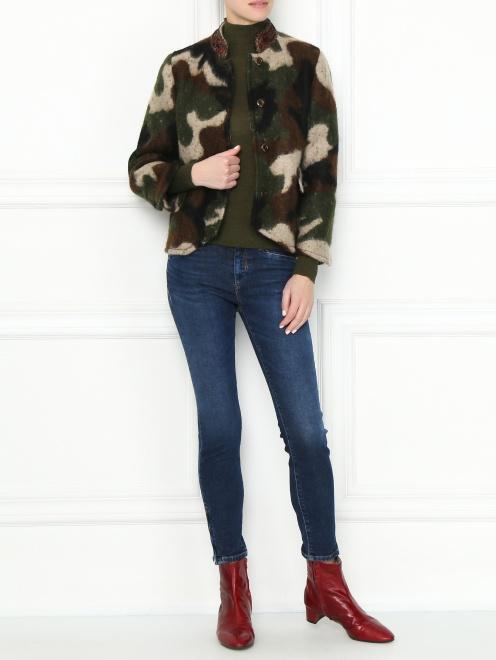 1206444b3 Укороченные джинсы зауженного кроя Max Mara - МодельОбщийВид ...