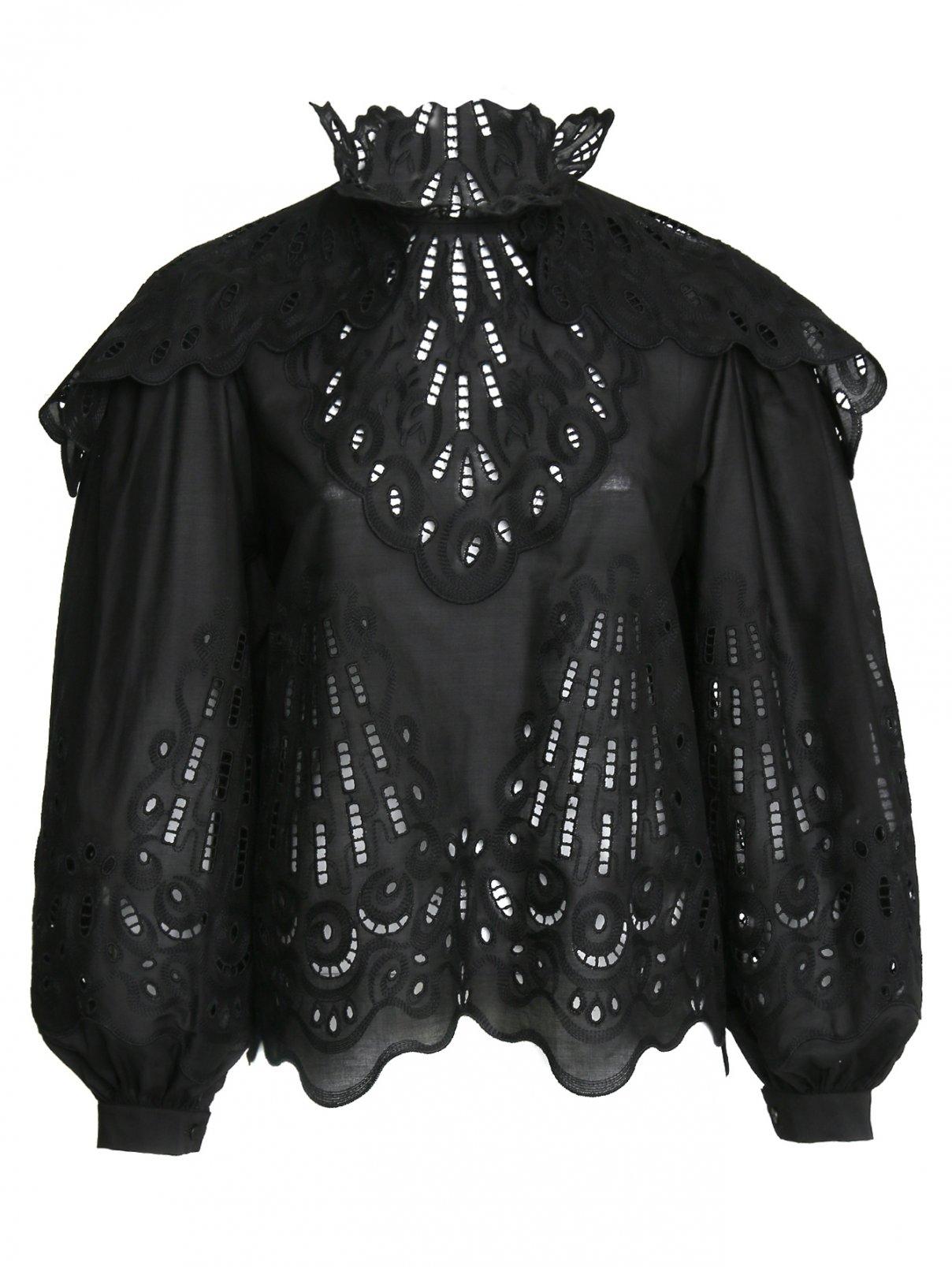 Блуза из хлопка с вышивкой Alberta Ferretti  –  Общий вид