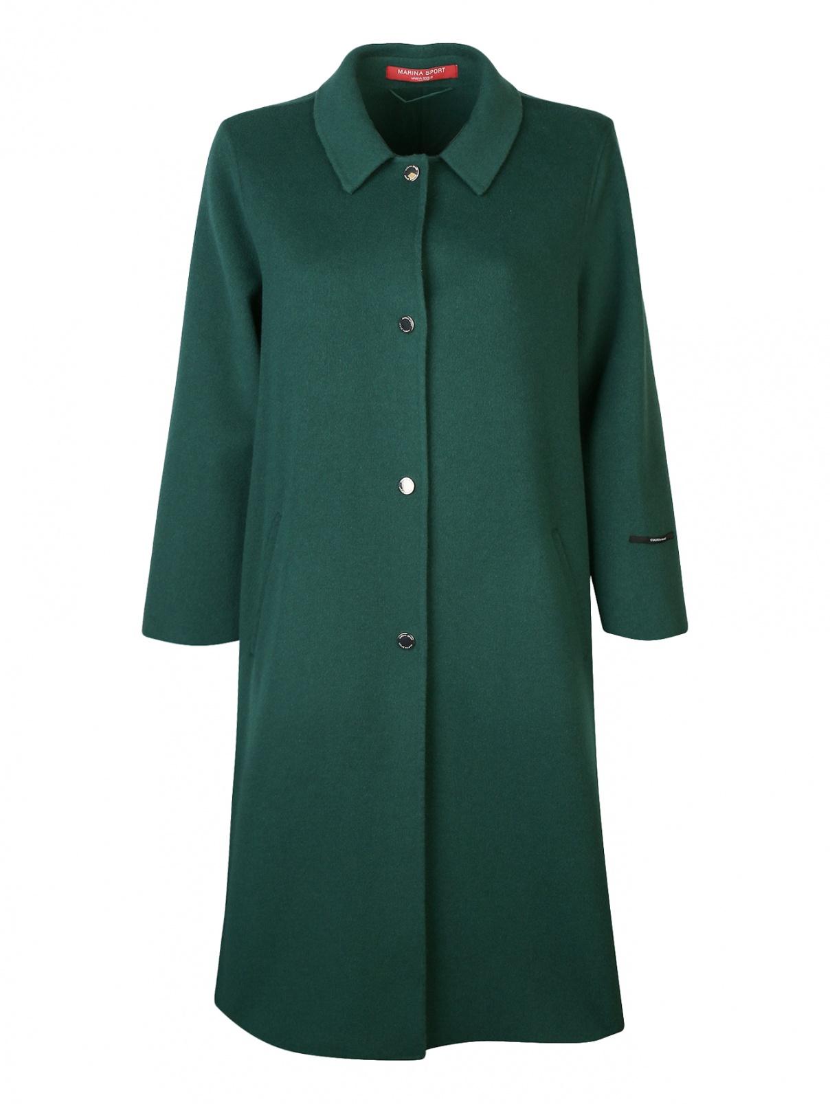 Пальто из шерсти на кнопках свободного кроя Marina Rinaldi  –  Общий вид