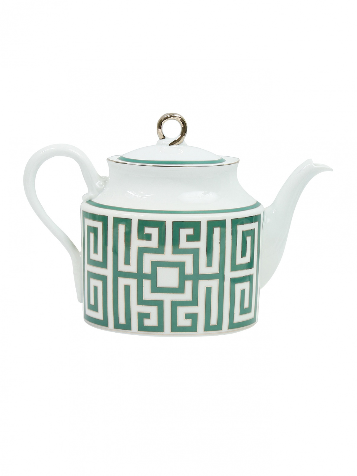Чайник из фарфора с орнаментом Ginori 1735  –  Общий вид