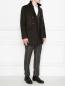 Пальто двубортное из шерсти Moorer  –  МодельОбщийВид