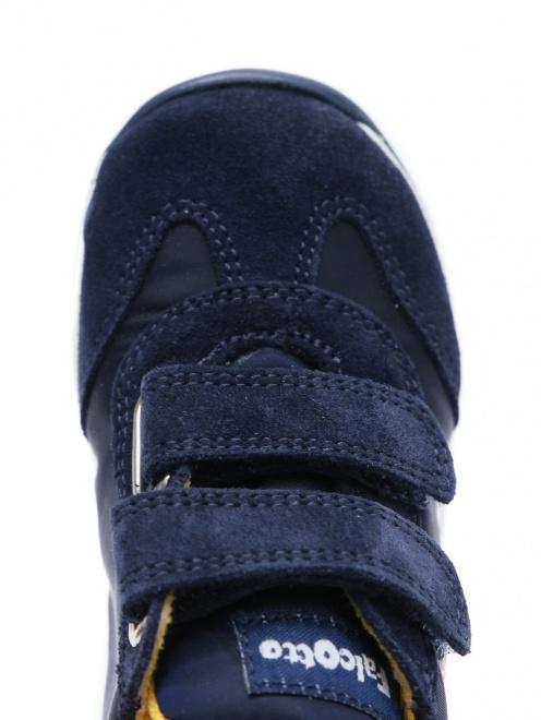 Кроссовки из кожи и текстиля с нашивками FALCOTTO - Обтравка3