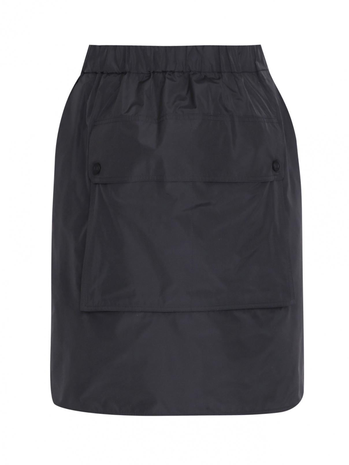 Юбка-мини на резинке с накладным карманом Max Mara  –  Общий вид