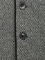 Жилет из шерсти с узором LARDINI  –  Деталь