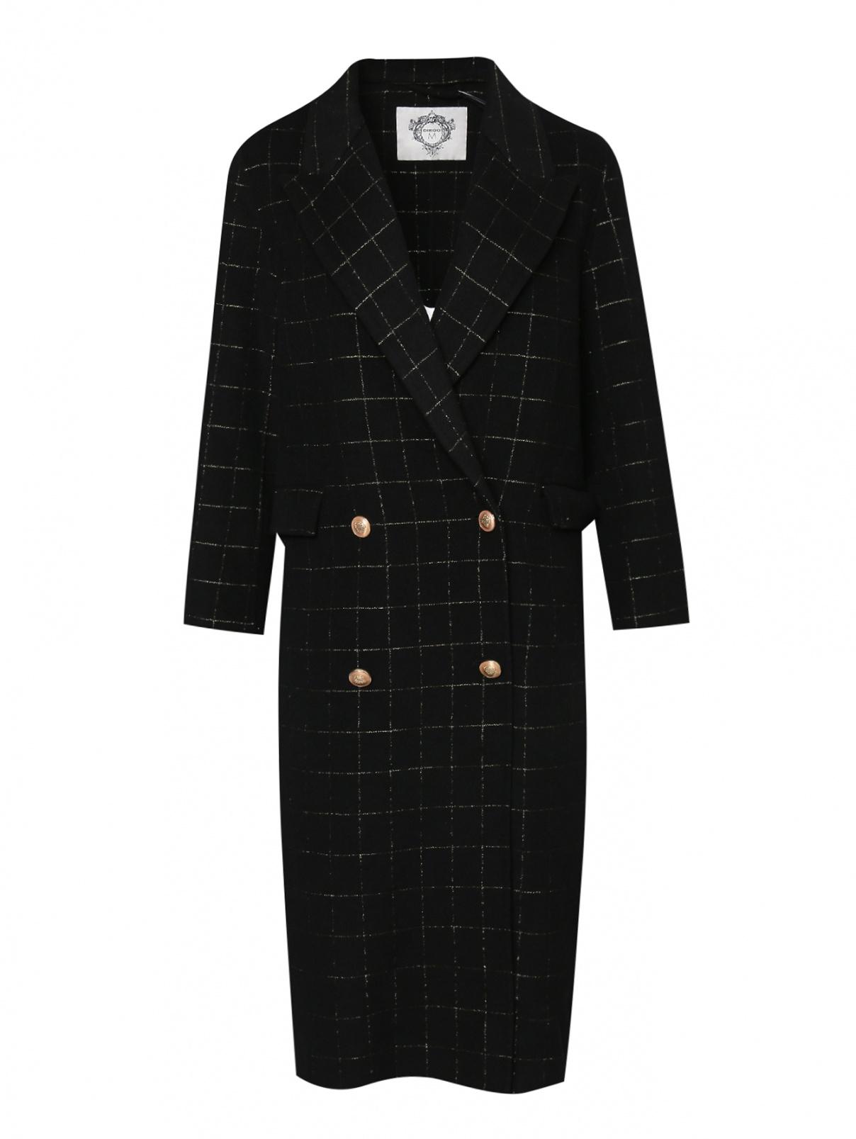 Двубортное пальто из шерсти в клетку Diego M  –  Общий вид