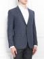 Пиджак однобортный из шелка и шерсти Pal Zileri  –  Модель Верх-Низ