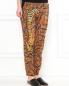 Свободные брюки из шелка с узором Barbara Bui  –  Модель Верх-Низ