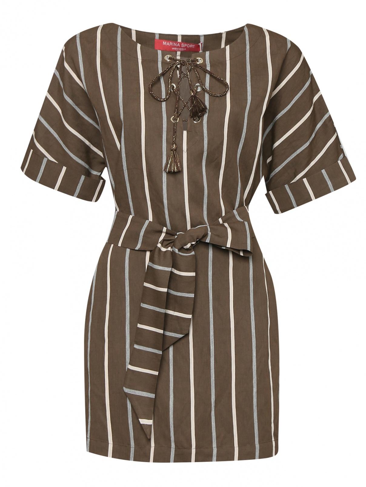 Блуза с узором полоска Marina Rinaldi  –  Общий вид