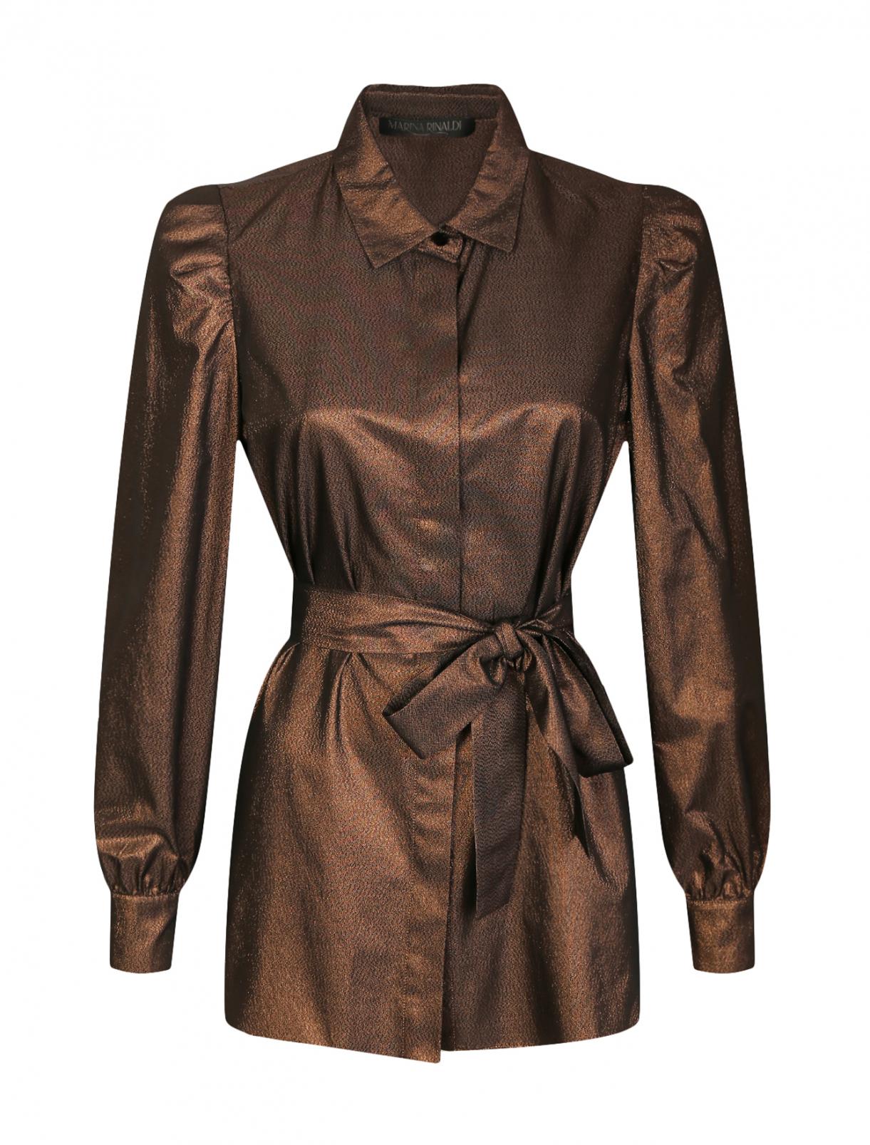 Блуза с поясом Marina Rinaldi  –  Общий вид