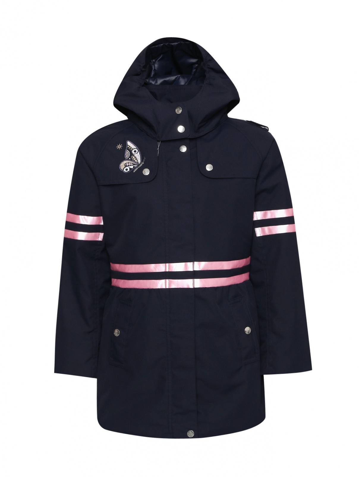 Куртка с вышивкой на молнии Poivre Blanc  –  Общий вид