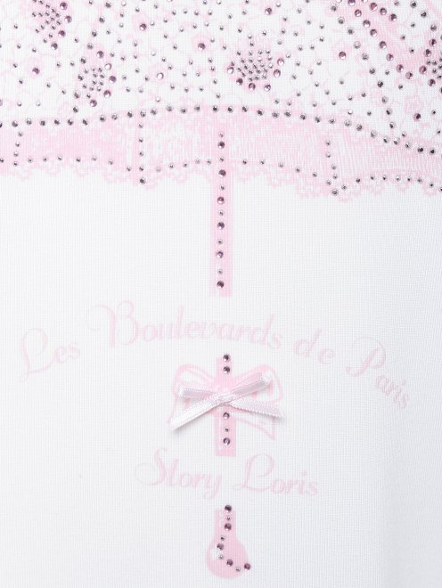 Сорочка из мягкого трикотажа с аппликацией Story Loris - Деталь
