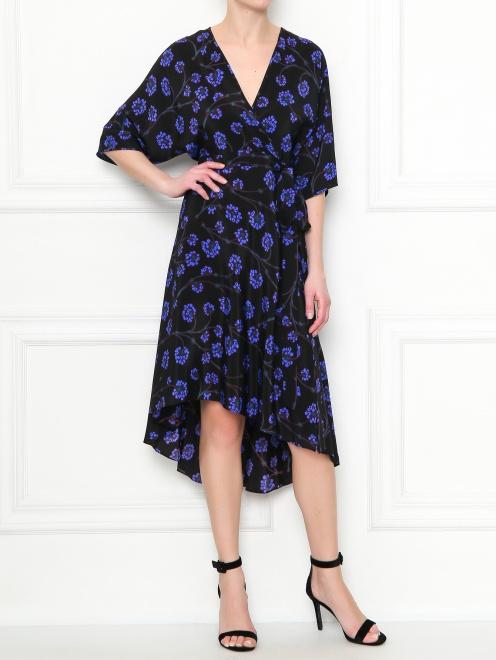 Платье-миди из шелка с узором Diane von Furstenberg - Общий вид