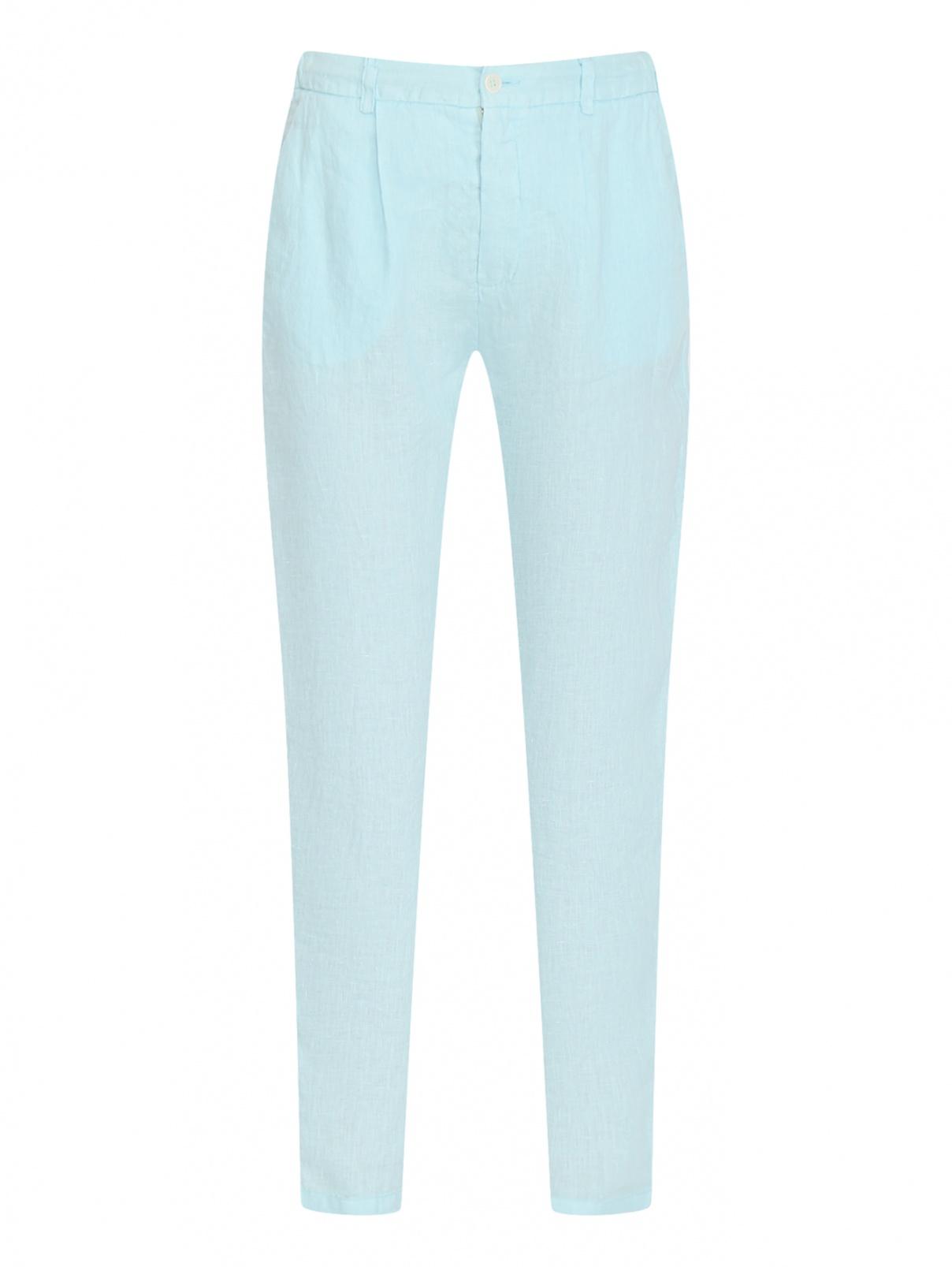 Однотонные брюки из льна с карманами Altea  –  Общий вид