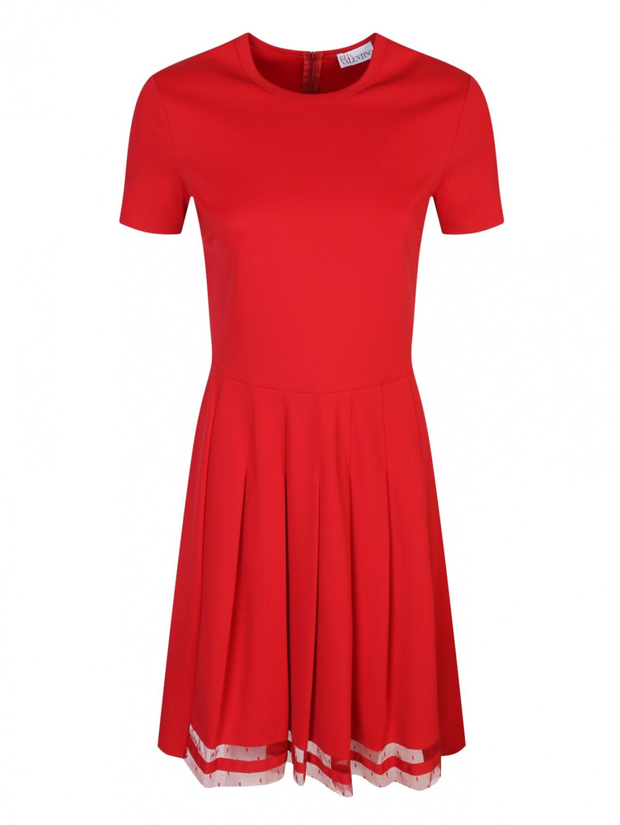 Трикотажное платье с короткими рукавами Red Valentino  –  Общий вид