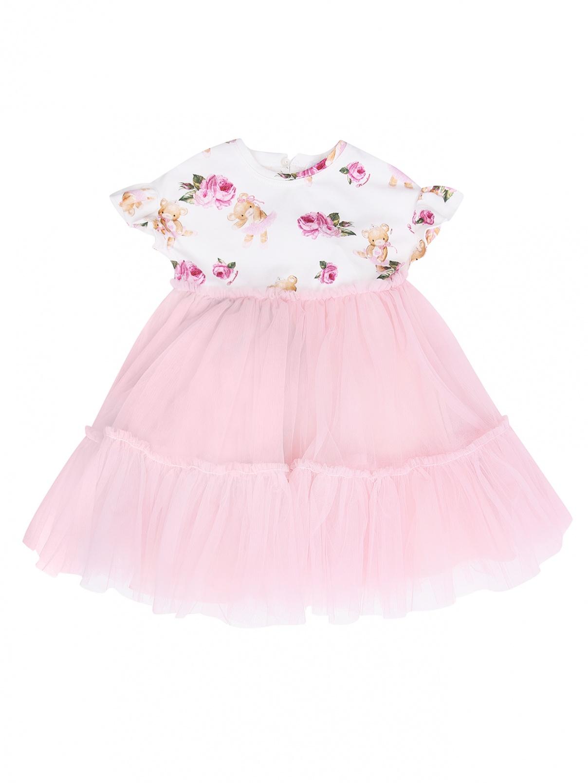 Платье с юбкой из сетки MONNALISA  –  Общий вид