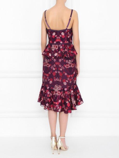 Платье с цветочным узором - МодельВерхНиз1