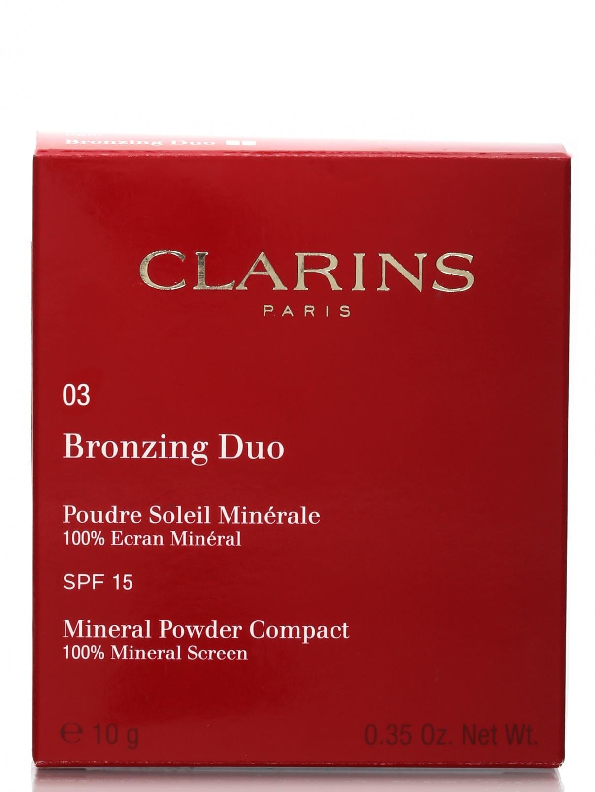 Двухцветная компактная минеральная пудра - №03, Bronzing Duo Clarins  –  Модель Общий вид