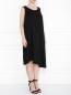 Платье из льна с декоративной отделкой без рукавов Marina Rinaldi  –  МодельВерхНиз