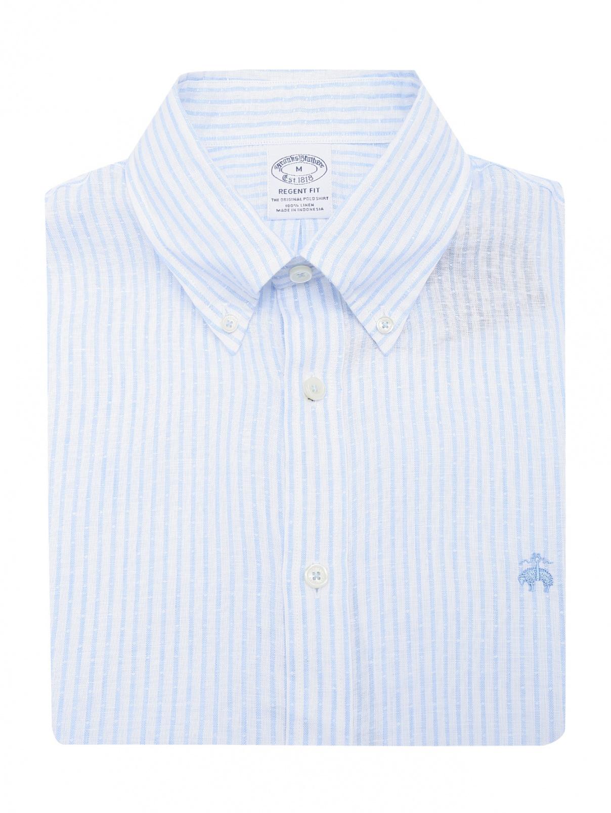 Рубашка из льна с коротким рукавом Brooks Brothers  –  Общий вид