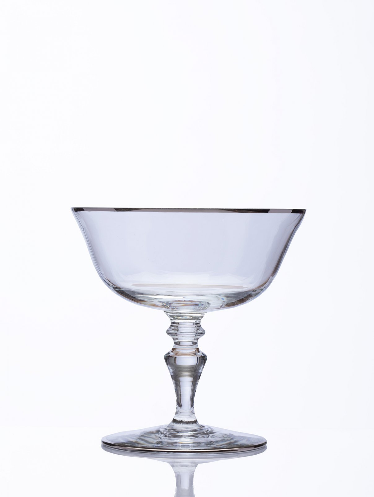 Чаша для шампанского с платиновым кантом, высота - 11,4 см, диаметр - 11,2 см NasonMoretti  –  Общий вид