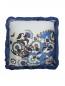 Подушка из хлопка с цветочным принтом и бахромой 40 x 40 Etro  –  Общий вид
