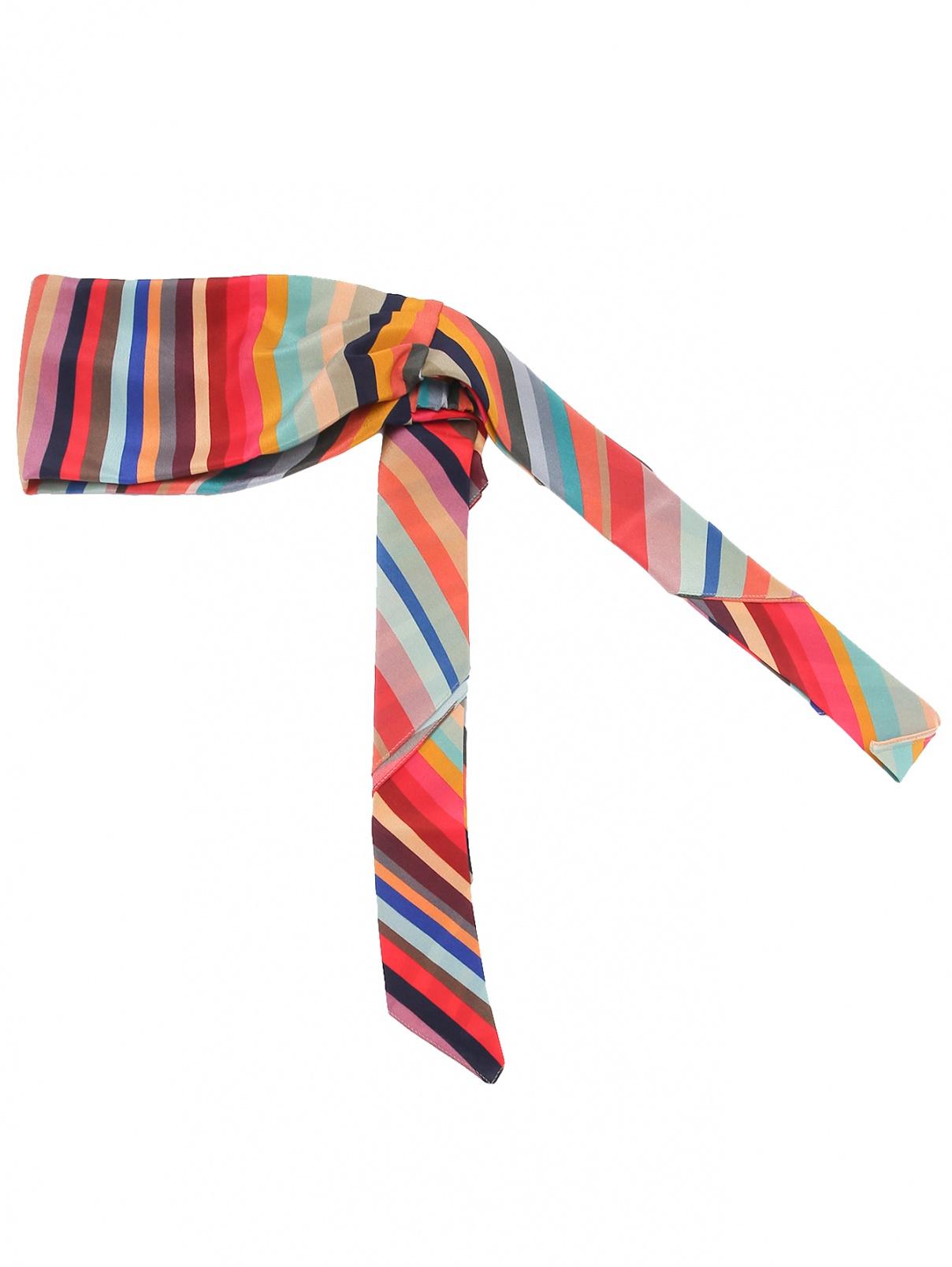 Повязка на голову из шелка с узором полоска Paul Smith  –  Общий вид
