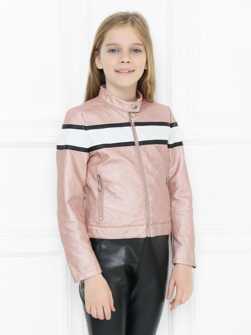 Куртка из экокожи в байкерском стиле Freedomday - МодельВерхНиз