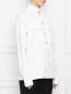Рубашка из хлопка с накладными карманами DANIILBERG  –  МодельВерхНиз