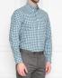 "Рубашка из хлопка с узором ""клетка"" Brooks Brothers  –  МодельВерхНиз"