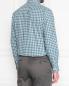"Рубашка из хлопка с узором ""клетка"" Brooks Brothers  –  МодельВерхНиз1"