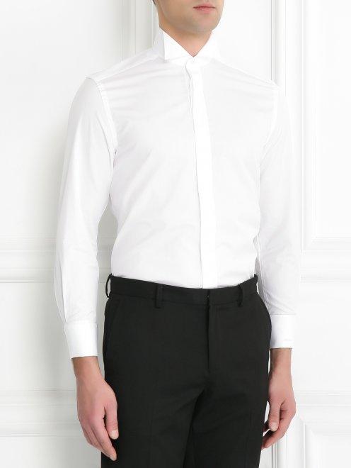 Рубашка из льна - МодельВерхНиз