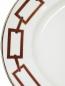 Блюдо овальное из фарфора с орнаментом и серебряной окантовкой Richard Ginori 1735  –  Деталь