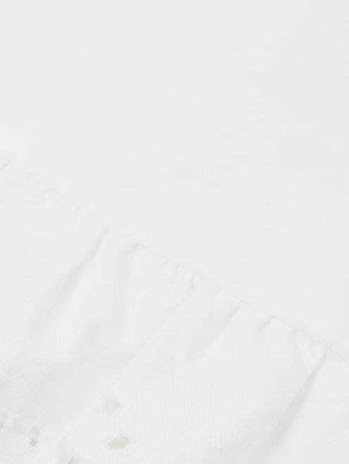 Платье-мини с объемными рукавами - Деталь